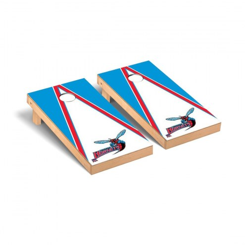 Delaware State Hornets Triangle Wooden Cornhole Game Set