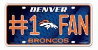 Denver Broncos #1 Fan License Plate