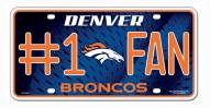 Denver Broncos #1 Fan License Plate