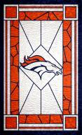 """Denver Broncos 11"""" x 19"""" Stained Glass Sign"""