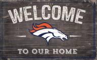 "Denver Broncos 11"" x 19"" Welcome to Our Home Sign"