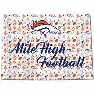 """Denver Broncos 12"""" Floral State Sign"""