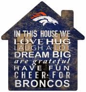 """Denver Broncos 12"""" House Sign"""