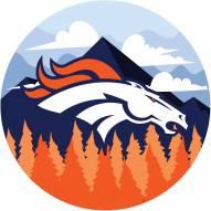 """Denver Broncos 12"""" Landscape Circle Sign"""