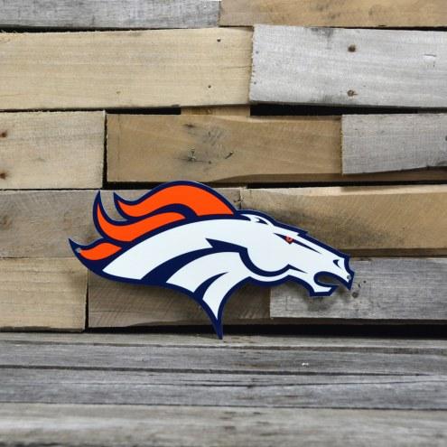"""Denver Broncos 12"""" Steel Logo Sign"""