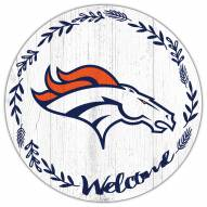 "Denver Broncos 12"" Welcome Circle Sign"
