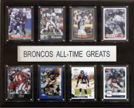 """Denver Broncos 12"""" x 15"""" All-Time Greats Plaque"""