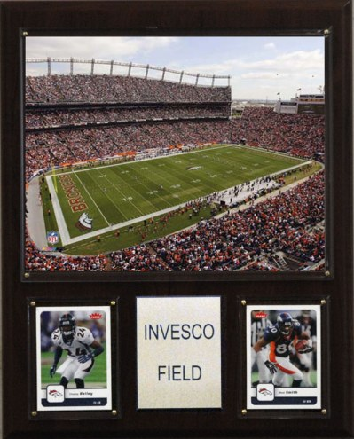 "Denver Broncos 12"" x 15"" Stadium Plaque"
