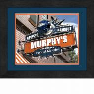 Denver Broncos 13 x 16 Personalized Framed Sports Pub Print