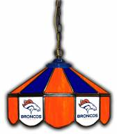 "Denver Broncos 14"" Glass Pub Lamp"