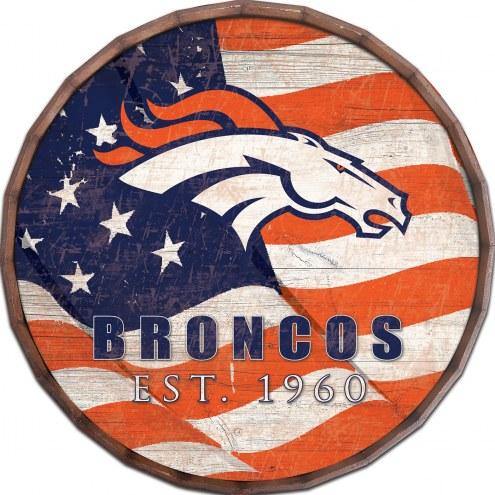 """Denver Broncos 16"""" Flag Barrel Top"""