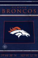 "Denver Broncos 17"" x 26"" Coordinates Sign"