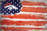 """Denver Broncos 17"""" x 26"""" Flag Sign"""
