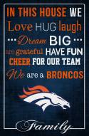 """Denver Broncos 17"""" x 26"""" In This House Sign"""