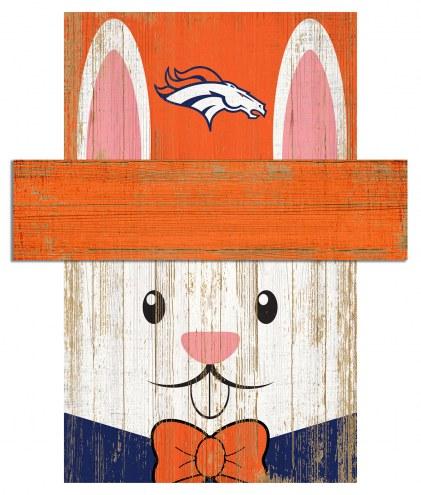 """Denver Broncos 19"""" x 16"""" Easter Bunny Head"""
