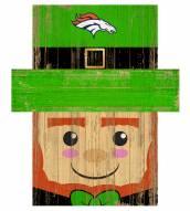 "Denver Broncos 19"" x 16"" Leprechaun Head"