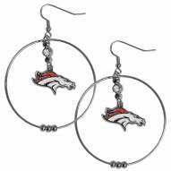 """Denver Broncos 2"""" Hoop Earrings"""