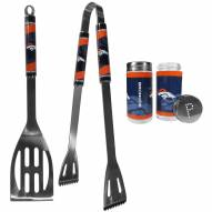 Denver Broncos 2 Piece BBQ Set with Tailgate Salt & Pepper Shakers