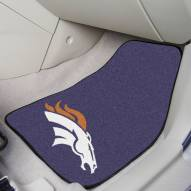 Denver Broncos 2-Piece Carpet Car Mats