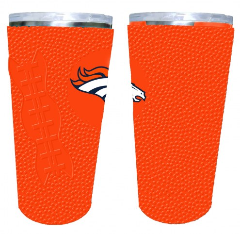Denver Broncos 20 oz. Stainless Steel Tumbler with Silicone Wrap