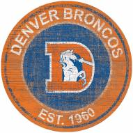 "Denver Broncos 24"" Heritage Logo Round Sign"