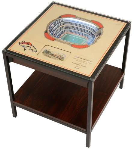 Denver Broncos 25-Layer StadiumViews Lighted End Table