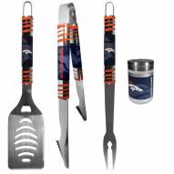 Denver Broncos 3 Piece Tailgater BBQ Set and Season Shaker