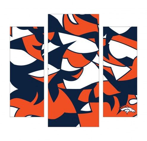 Denver Broncos 3 Piece Wall Art