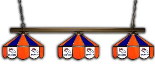 Denver Broncos 3 Shade Pool Table Light