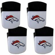 Denver Broncos 4 Pack Chip Clip Magnet with Bottle Opener