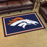 Denver Broncos 4' x 6' Area Rug