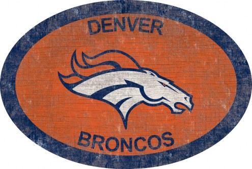 """Denver Broncos 46"""" Team Color Oval Sign"""