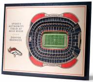 Denver Broncos 5-Layer StadiumViews 3D Wall Art