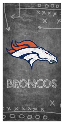 """Denver Broncos 6"""" x 12"""" Chalk Playbook Sign"""