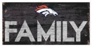 """Denver Broncos 6"""" x 12"""" Family Sign"""