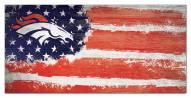 """Denver Broncos 6"""" x 12"""" Flag Sign"""