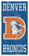 """Denver Broncos 6"""" x 12"""" Heritage Logo Sign"""