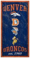 """Denver Broncos 6"""" x 12"""" Heritage Sign"""