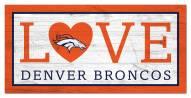 "Denver Broncos 6"" x 12"" Love Sign"