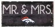 """Denver Broncos 6"""" x 12"""" Mr. & Mrs. Sign"""