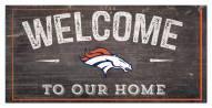 """Denver Broncos 6"""" x 12"""" Welcome Sign"""