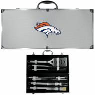 Denver Broncos 8 Piece Stainless Steel BBQ Set w/Metal Case