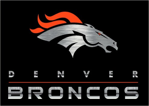 Denver Broncos 8' x 11' NFL Chrome Area Rug