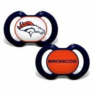 Denver Broncos Baby Pacifier 2-Pack