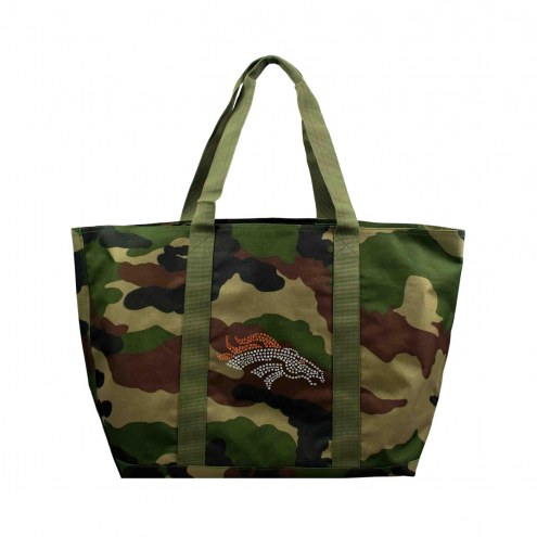 Denver Broncos Camo Tote Bag