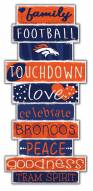 Denver Broncos Celebrations Stack Sign