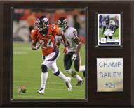 """Denver Broncos Champ Bailey 12 x 15"""" Player Plaque"""