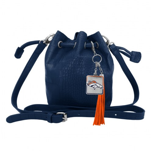 Denver Broncos Charming Mini Bucket Bag