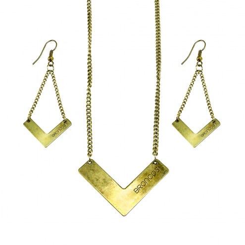 Denver Broncos Chevron Jewelry Set
