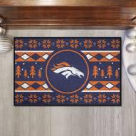 Denver Broncos Christmas Sweater Starter Rug